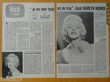 MARILYN MONROE Coupure de presse 2 pages TELE 7 JOURS 1978 – French clippings