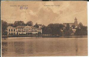 Ansichtskarte Solbad Salzungen - Kurhaus mit Felsen - 1910 - schwarz/weiß