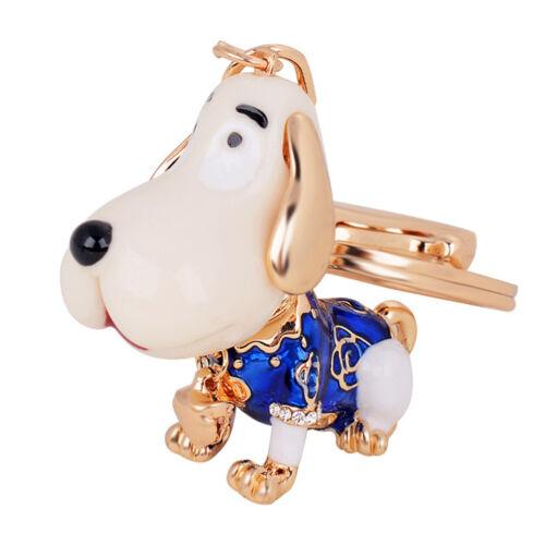 Cute Dog Pattern Alloy Rhinestone Women Key Chain Handbag Bag Pendant Ornaments