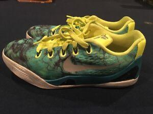 c7afa073f5c7 RARE Nike Kobe IX EM Easter Turbo Green Silver Metallic Volt 5Y ...