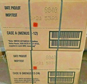 Military Surplus MRE Ready to Eat Survival A&B Case Bundle (24 Meals) 2/2021
