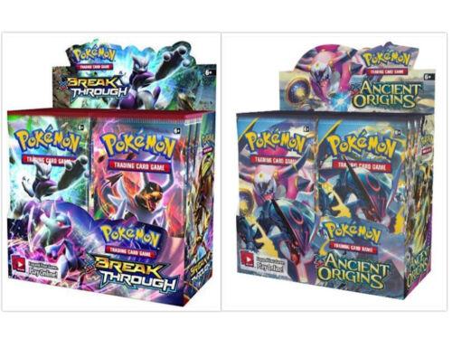 Ancient Origins Booster Boxes Card Game Bundle Sealed Pokemon TCG Breakthrough
