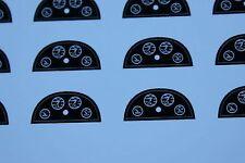 BM 2 ex  tableau bord maserati 4 CLT papier carton 1/43 voiture véhicule Heco