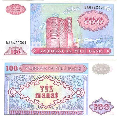 AZERBAIJAN 100 Manat UNC Pick 18 1993