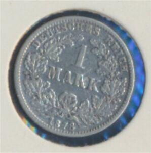 German-Empire-Jagerno-9-1878-G-very-fine-Silver-1878-1-Mark-7849284