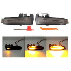 Dynamic LED Side Mirror Repeater Indicator Light For Mercedes Class W204   D*//