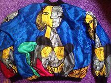 Vintage Reversible Picasso / Baroque Print Bomber Jacket