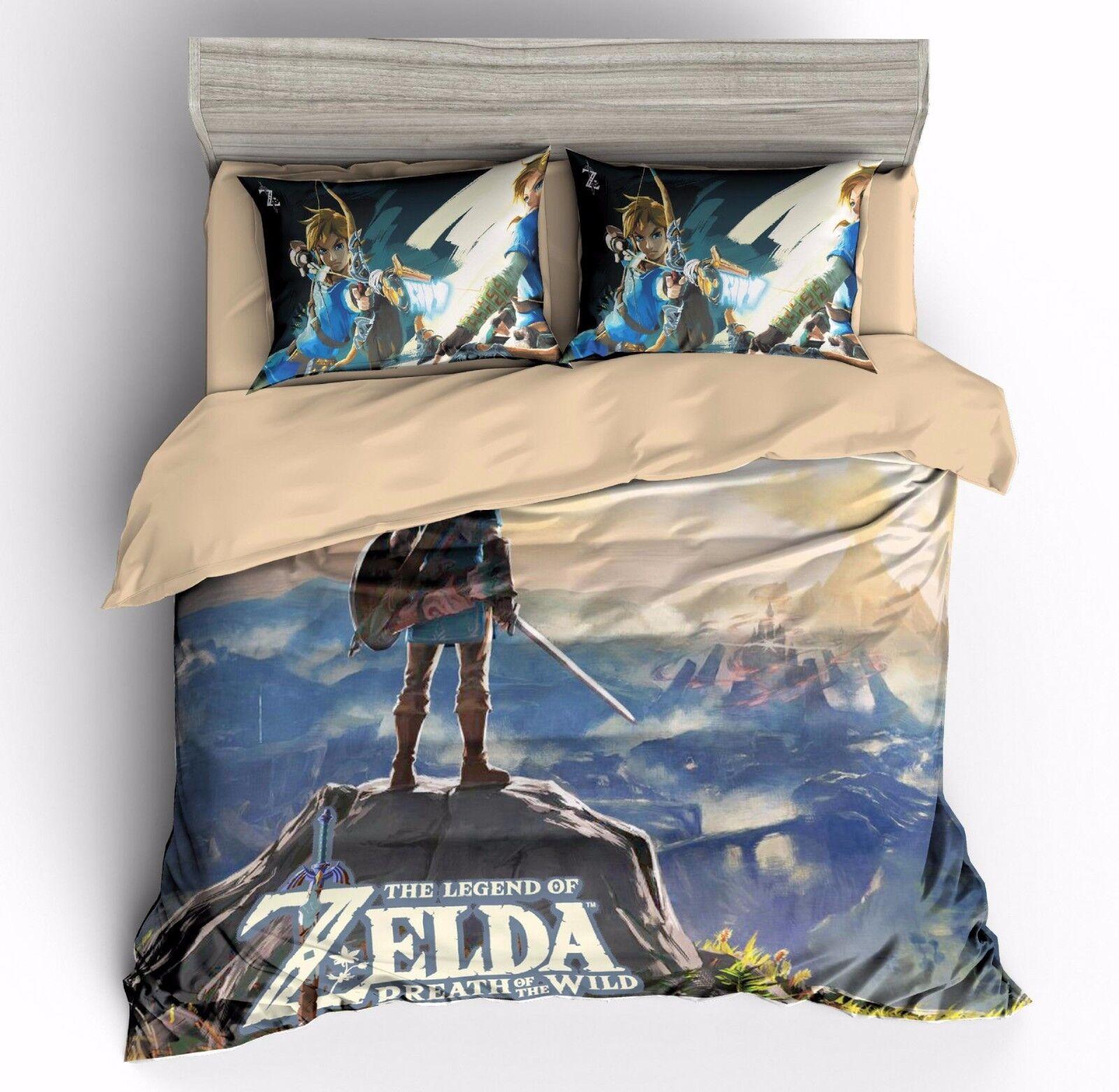 3D The Legend of Zelda Bedding Set Duvet Cover Comforter Cover Pillowcase Set