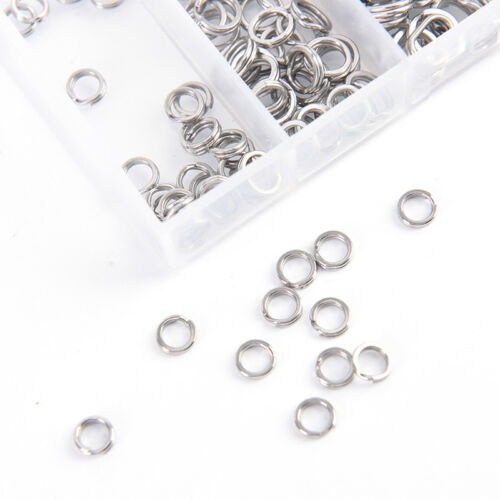 200x 5sizes Stainless Steel Round Split Rings Small Double Ring Jewelry Maki OBE