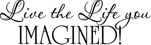 Live the Life you Imagined vinyl wall decal quote sticker decor Inspirational
