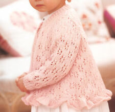 d6a67addaebdc Girls Sweater With Lace Sleeves Knitting Pattern DK 20-30