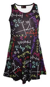 Girls Childrens Fun Maths Formula School Print Leggings