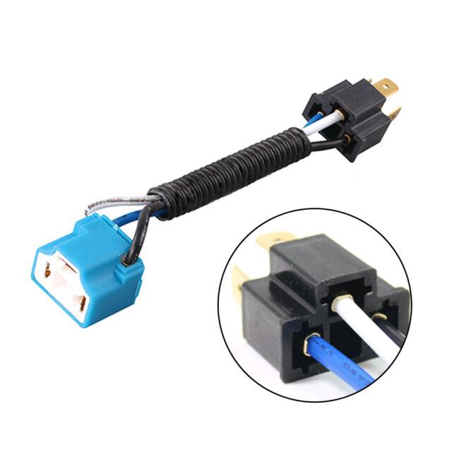 2x universal 9003 h4 headlight bulb ceramic socket plug connector wiring  harness
