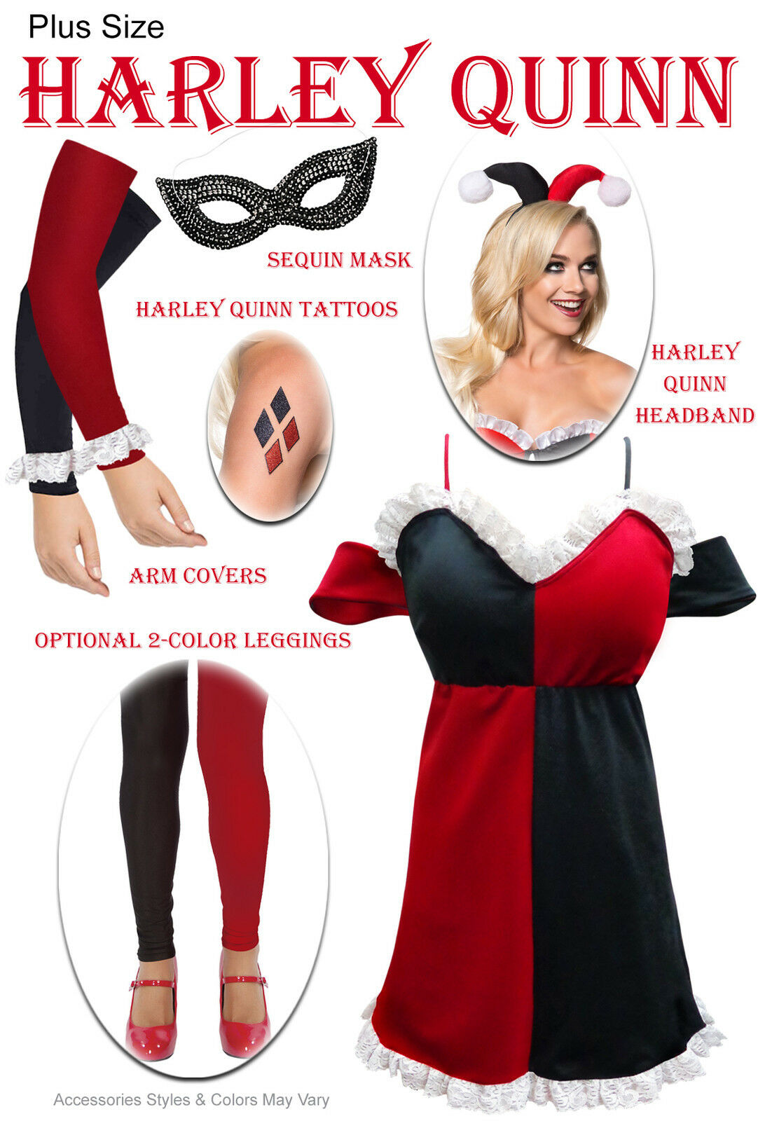 Harley Quinn Plus Size Halloween Costume Costume Costume 0x 1x 2x 3x 4x 5x 6x 7x 8x 9x d030bf