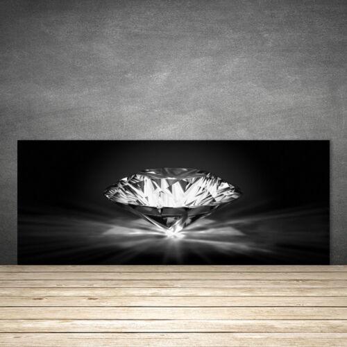 Fond de panier de cuisine en verre ESG anti-projections 125x50cm Diamant Art