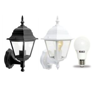 Traditional 4 sided garden outdoor wall lantern led bulb motion image is loading traditional 4 sided garden outdoor wall lantern led aloadofball Image collections