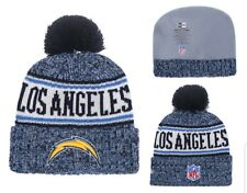 c3789820460 2018 Los Angeles Chargers New Era NFL Knit Hat On Field Sideline Beanie Hat