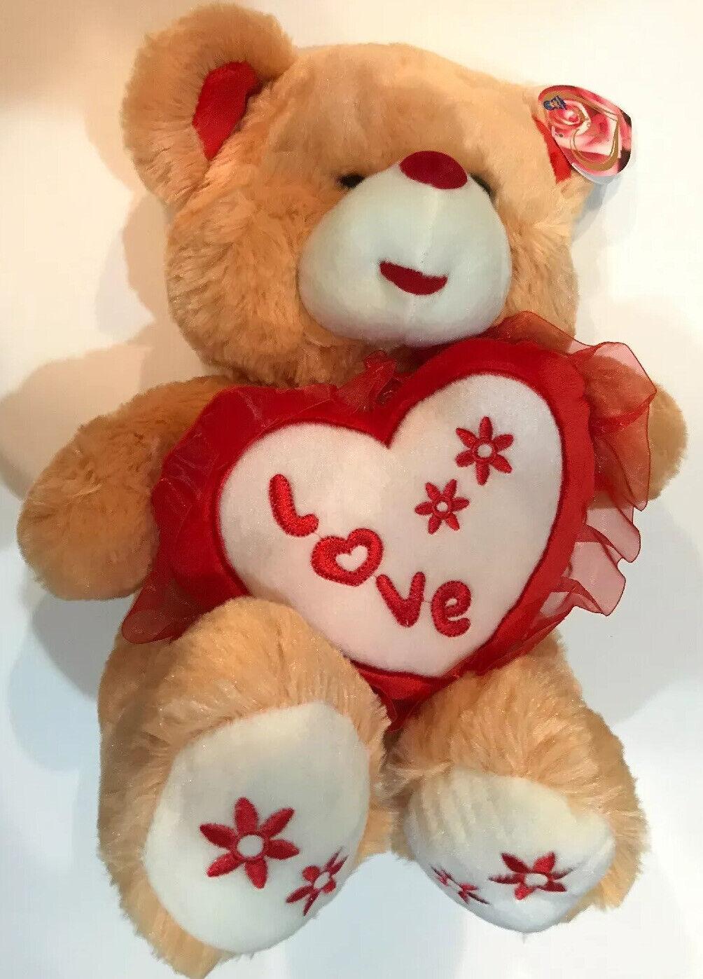 50cm Love Teddy Bear Gift Pillow Beige Plush Toys DollGiant Stuffed Animal Gift