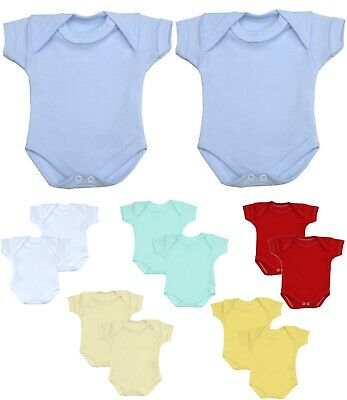 Premature preemie tiny baby girls boys unisex 2 pack bodysuits vests 5-8 lbs