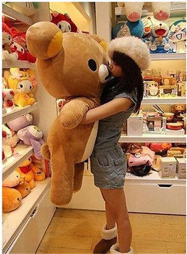 80cm San-x Rilakkuma Relax Bear Soft Giant Plush Doll Toy Stuffed Pillow Gift **