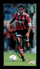 Ulf Kirsten Bayer Leverkusen Panini Sammelcard 1996-97 Original Sign+ A 157807