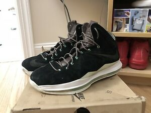 best loved 6fd5f a5ca5 Image is loading Nike-Lebron-10-X-EXT-Black-Mint-Suede