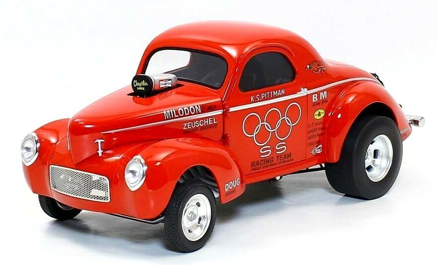 ACME 1:18 S S Racing Team 1941 Gasser Diecast Model Car rosso A1800908
