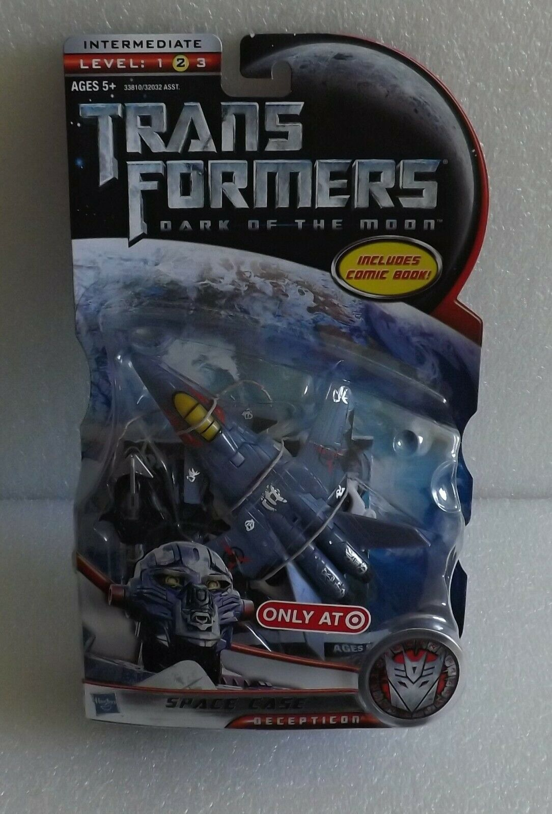 NEW 2010 TRANSFORMERS DARK OF THE MOON SPACE CASE TARGET LEVEL 2 DELUXE CLASS
