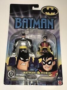 BATMAN-amp-ROBIN-Mattel-2002-Action-Figure-Dual-Set-B4424-Figures-DC-Universe-NEW