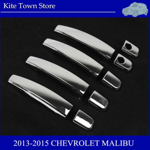 9PC CHROME DOOR HANDLE COVER FOR 2013 2014 2015 CHEVROLET MALIBU+2010-2015 CRUZE