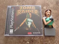 Original Tomb Raider Game + Memory Card bundle lot sony playstation 1 lara croft