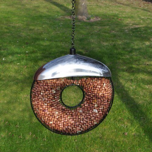 Deluxe Metal Hanging Donut Shaped Small Garden Bird Nut Feeder BF035