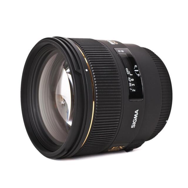 Sigma 85 mm f1.4 Ex Dg HSM Alto Flusso Luminoso Obiettivo Con
