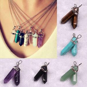 Mujer-Collar-Gargantilla-Colgante-cristal-piedra-Joyeria-Necklace-gfch