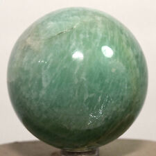 "2.2"" Natural Green Amazonite Sphere Feldspar Crystal Mineral Stone Ball - India"