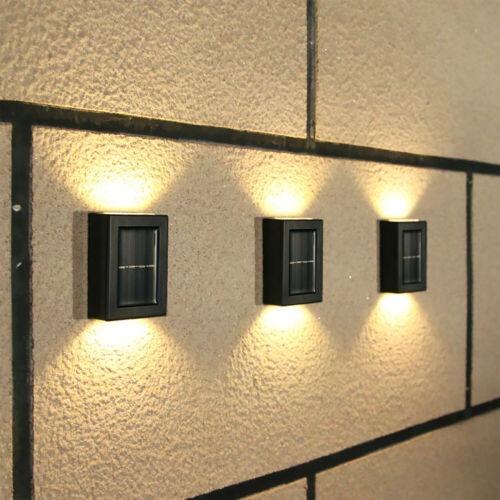 Details about  /2LED Solar Wall Light Outdoor Indoor Waterproof Garden Decoration Light
