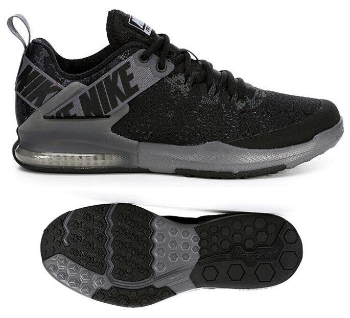 Nuevo NIKE Zoom Domination 2 Para Hombre Casual Air Zapatos Atléticos Negro gris Todas Las Tallas
