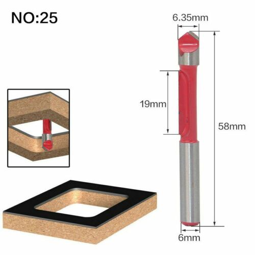 Shank Wood Router Bit Trimmer Cleaning Flush Round Cove Box Milling Cutter Tools