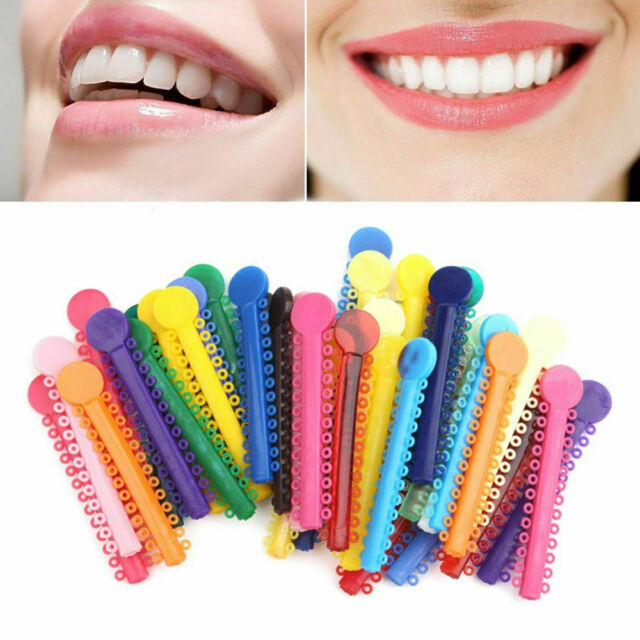 3x Dental Orthodontic Ligature Ties Elastic Rubber Bands Braces