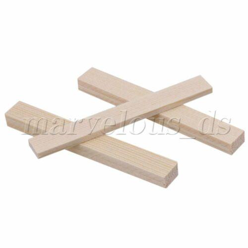 10x Cuadrado palos de madera de bambú longitud 80mm para la construcción de construcción de modelo Artesanal