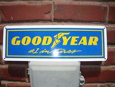 GOODYEAR TIRE #1 Tires SIGN Mechanic Racing Shop Garage Ad Logo Free Ship