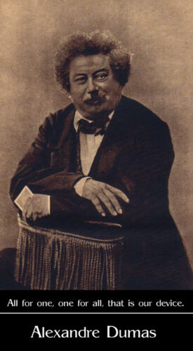 Alexandre Dumas photo by Nadar with quote poster print