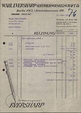 BERLIN NW 7, Brief 1931, Wahl Eversharp Vertriebsges. Füllstifte, -federn