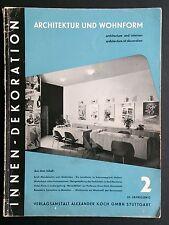 INNEN-DEKORATION 1952/12 Architecture Interior Design Erich MENDELSOHN Modernism