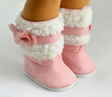 Sweet fashion new pink boot shoes for 18inch American girl doll party b241