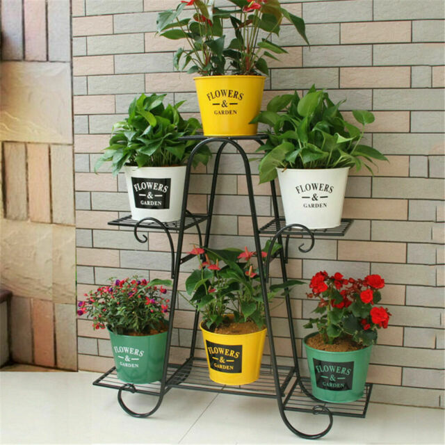 3 Flower Pot Rack Rollers Holder On