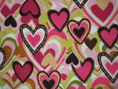 Nursery Bedding Qualified Handcrafted Flannel Crib Sheet Baby hearts,pink,brown,green/girl In Many Styles