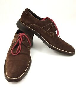 Cole-Haan-Lace-Up-Brown-Suede-Mens-Casual-Shoes-Sz-9-C04036