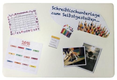 Schreibtischunterlage 40 x 60 cm transparent z Selbstgestalten für Bilder 2.Wahl
