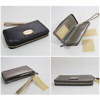 New Michael Kors Black Large Flat Multi Function Phone Case 35S6MELZ3Z Black